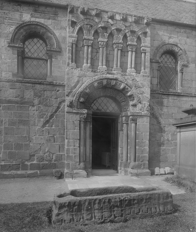 Dalmeny Parish Church, view of South entrance.