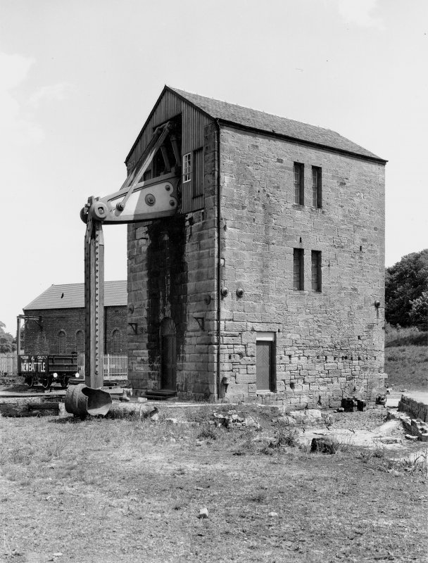 General view from W of Prestongrange beam engine. Digital image of B/13762.