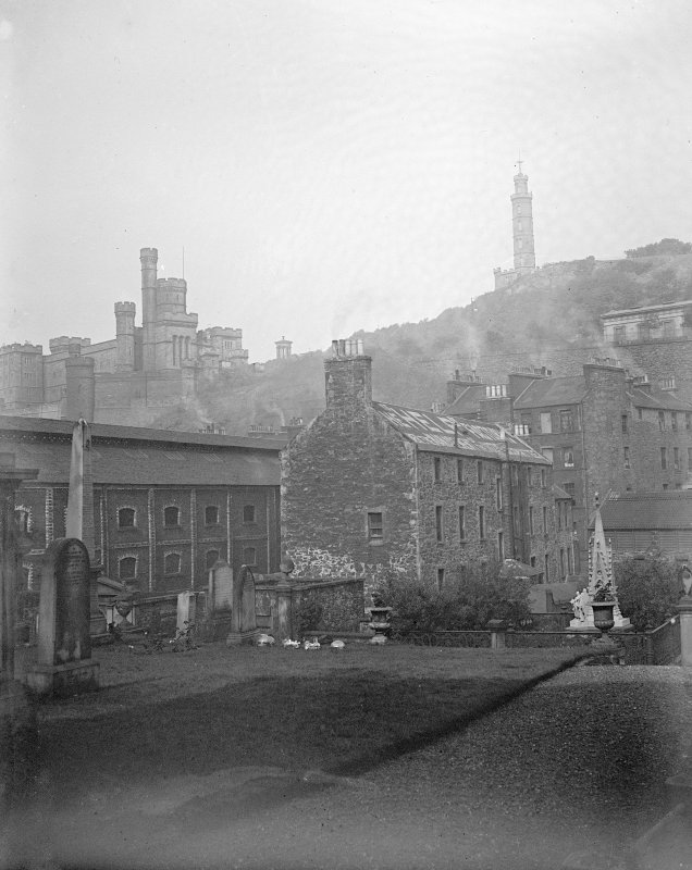 View of Calton Hill from Canongate Church.