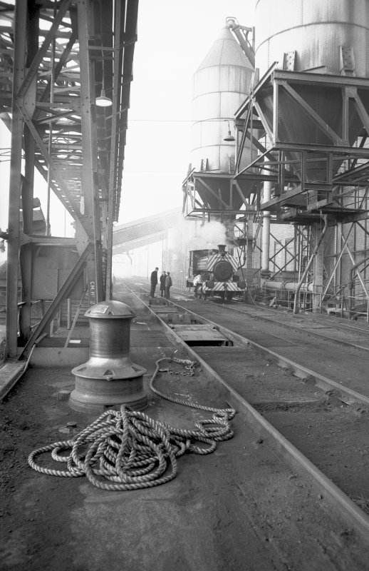 View from ESE showing part of S front, Clydesmill Power Station, Glasgow, in 1969.