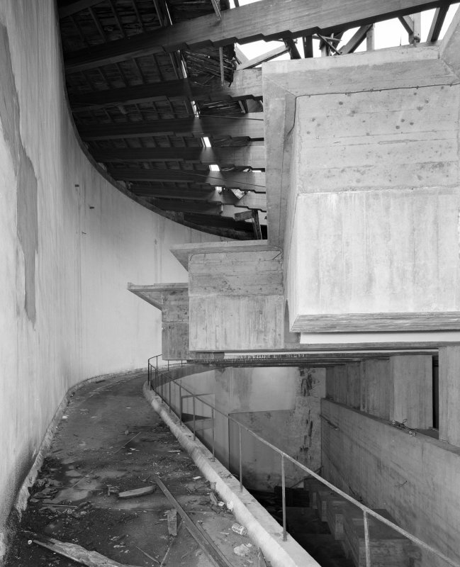 Main Block, view of ramp to Lower Chapel from South. Digital image of C 50212.