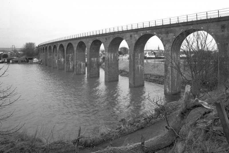 View of the W side if the viaduct from the SW. Digital image of E/22003.