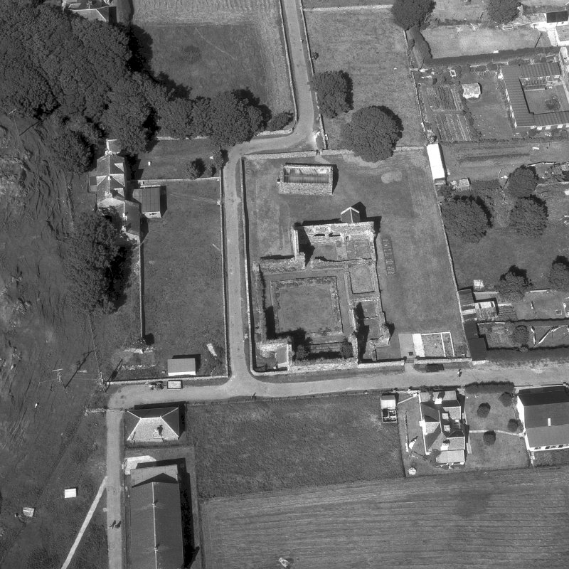 Iona, Iona Nunnery. Oblique aerial view from South-West. Digital image of AG/9073.