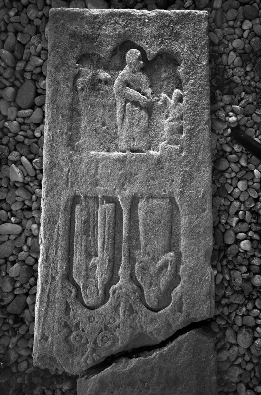 Iona, Iona Nunnery. View of sculptured stone L75. Digital image of AG/617.