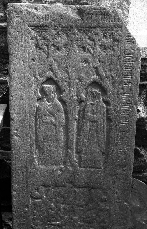 Iona, Iona Nunnery. View of sculptured stone L76. Digital image of AG/615.
