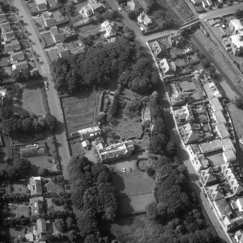 Aerial view of North Berwick Priory. Digital image of B/69537.