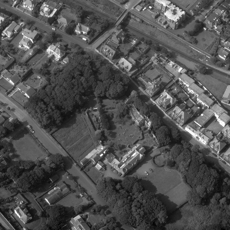 Aerial view of North Berwick Priory. Digital image of B/69536.