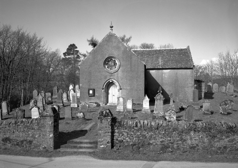 Kilfinan Parish Church. General view from East.