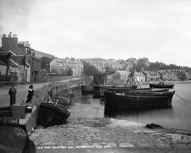 Campbeltown, general. General view. Insc: 'View from Dalintober Quay, Campbeltown. 13,164. G.W.W.'
