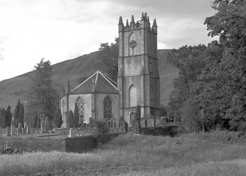 Dalmally Parish Church. General view from South-East.