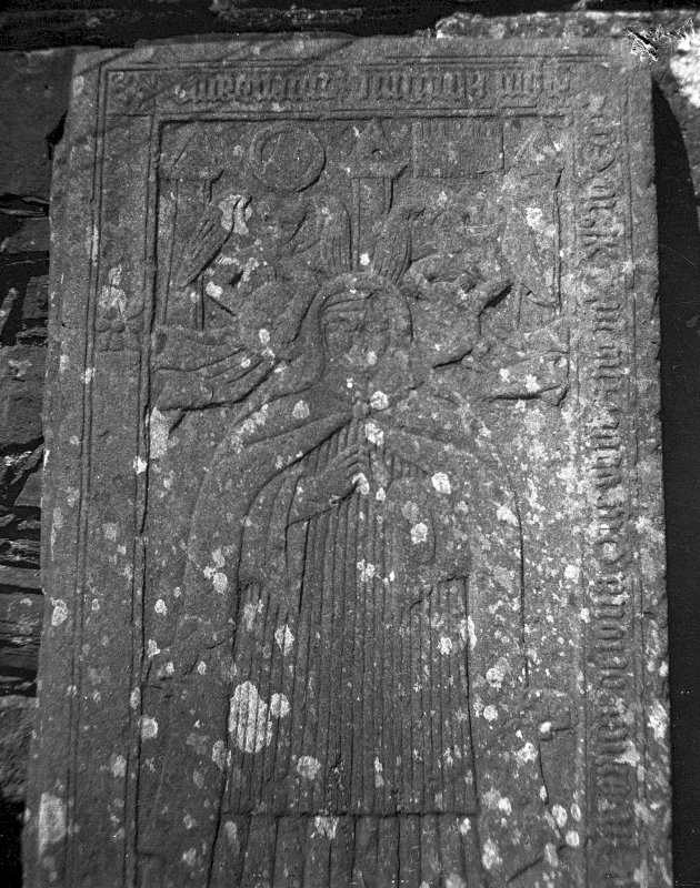 Iona, Iona Nunnery. Detail of grave-slab. Digital image of AG/12140.