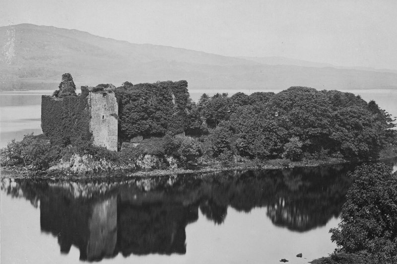 Historic photograph showing general view. Insc: 'Ardchonnel Castle, Loch Awe 1903 G.W.W.'