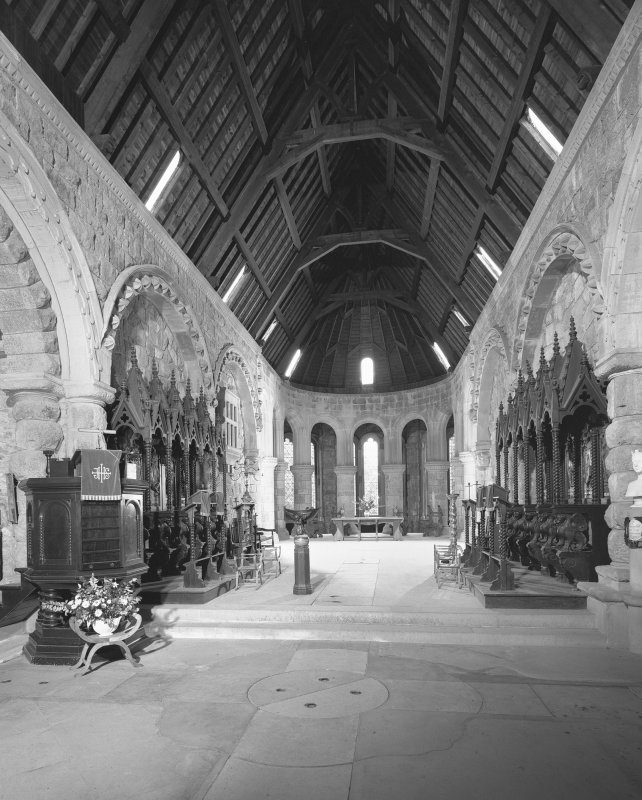 Loch Awe, St Conan's Church, interior. General view from West.