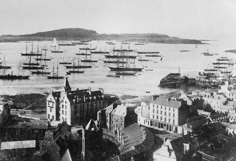 Oban, General. View of the bay and Sound of Mull, regatta day. Insc: 'Oban Bay & Sound of Mull, Regatta Day. 5420. G.W.W.