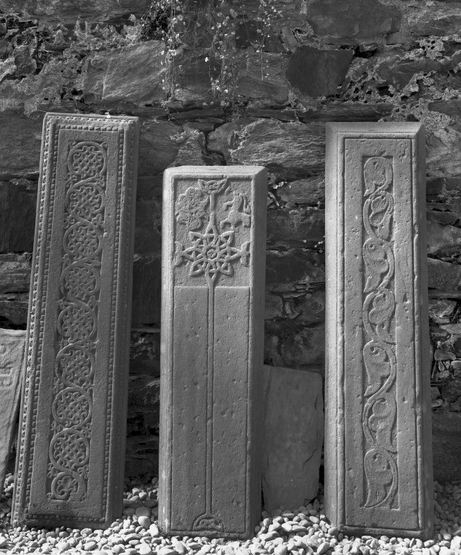 Iona, Iona Nunnery. Detail of WH slab L108, L39 and L36. Digital image of AG/619.