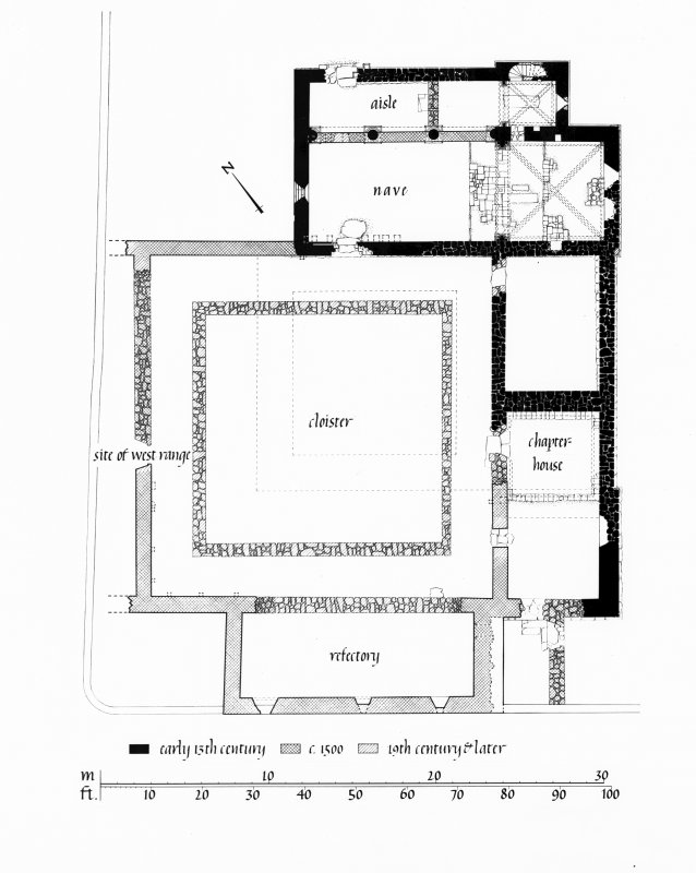 Iona, Iona Nunnery. Photographic copy of site plan.
