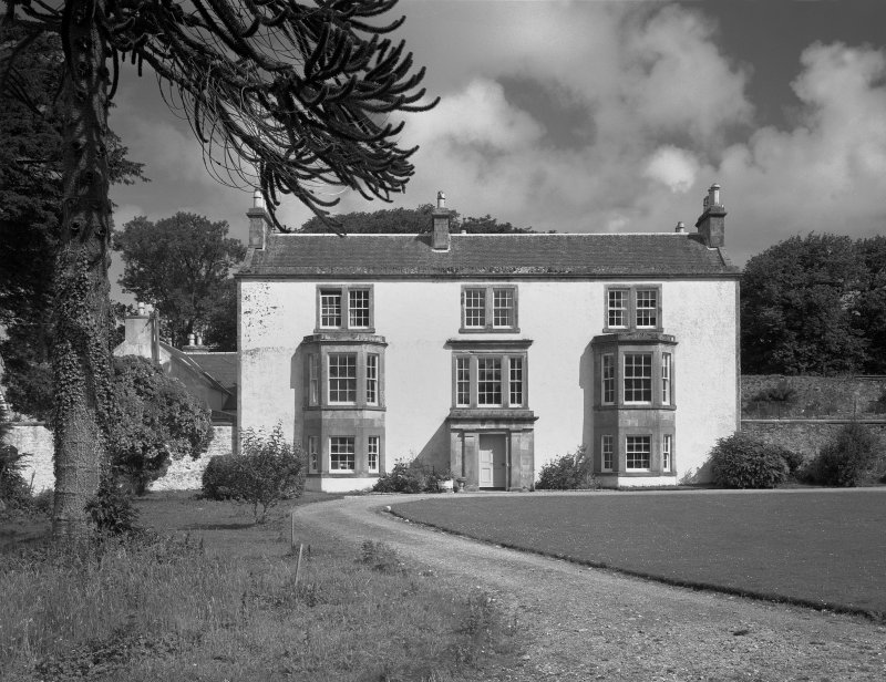 Eallabus House,Islay. General view from South of house and garden.