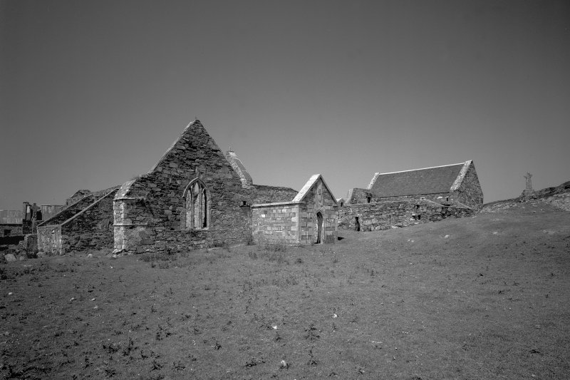 Oronsay Priory. General view from South-East.
