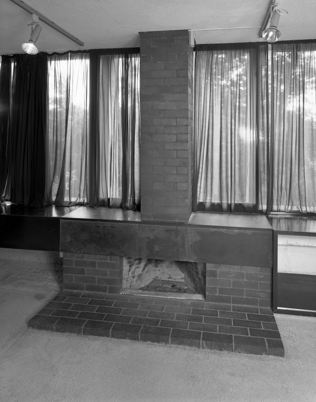 Detail of fireplace on first floor. Digital image of B 74280.