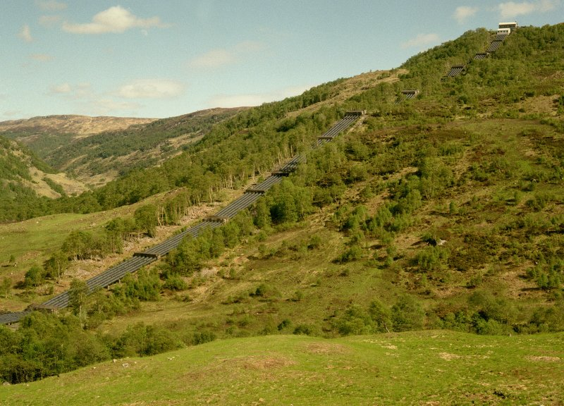 View, from north west up pipeline to Lower Penstock Digital image of B 13346/cn
