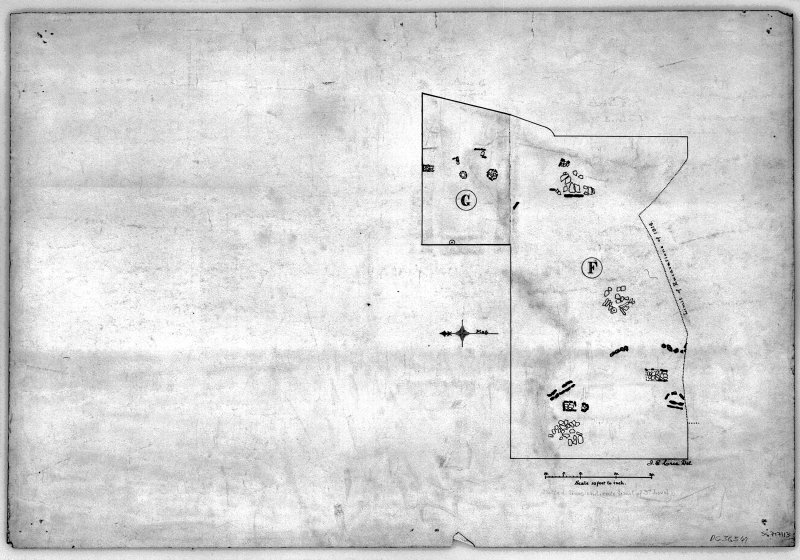 Excavation drawing: 'Plan of Third Level on Areas F and G'. (Curle and Cree 1916, 81)