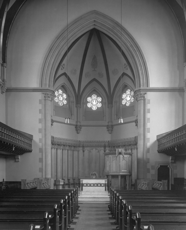 Interior. View looking towards altar.
