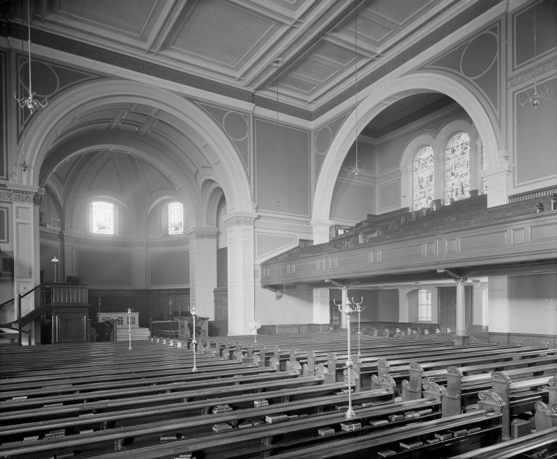 Interior - general view looking towards altar in St Cuthbert's Church