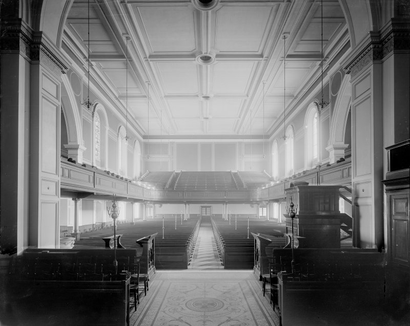 Interior view from the altar in St Cuthbert's Church, Lothian Road, Edinburgh.