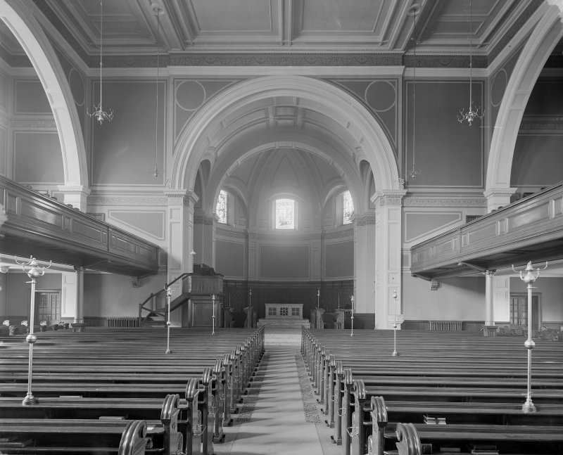 Interior - general view towards altar in St Cuthbert's Church