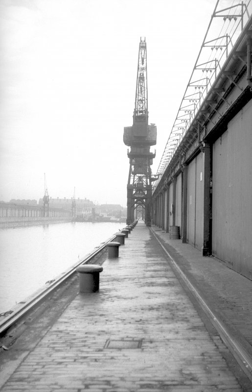 View looking ESE along south quay showing crane