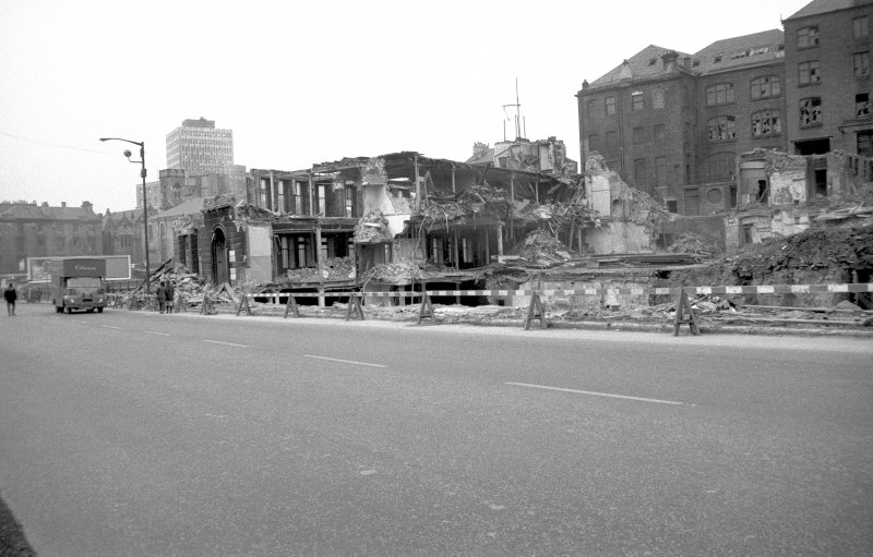 View from SE showing remains of 400 Cathedral Street with part of 38-44 Cunningham Street on right