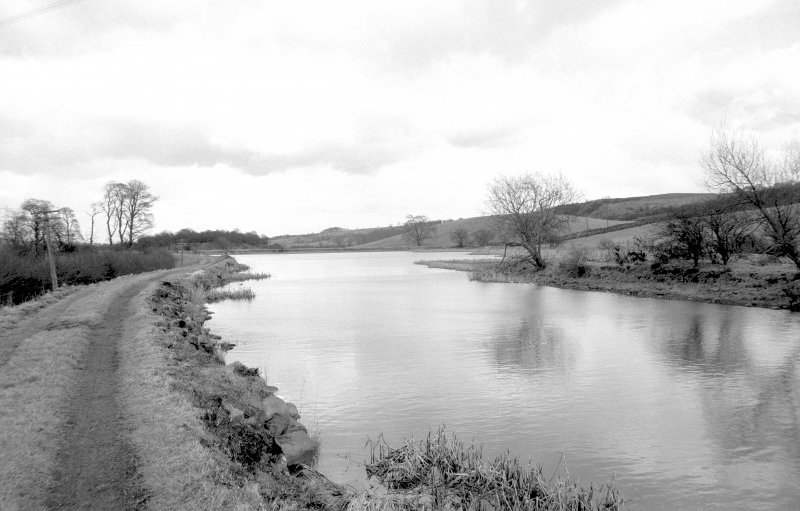 General view looking ENE away from Craigmarloch showing canal