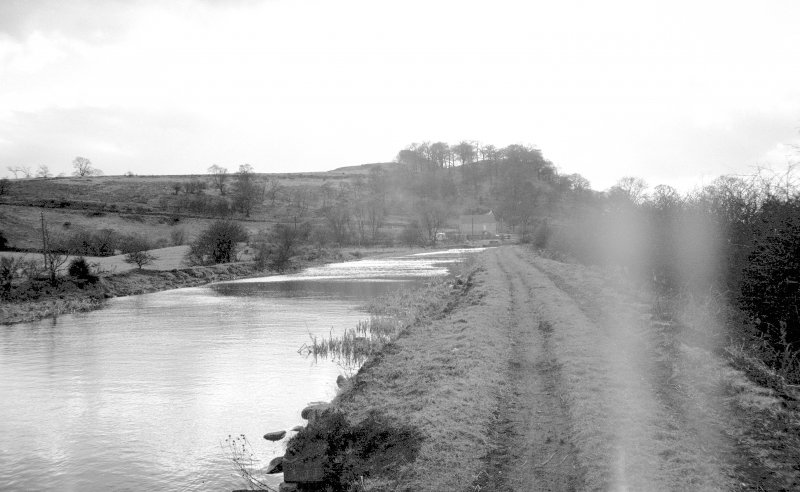 General view looking WSW towards Craigmarloch showing canal