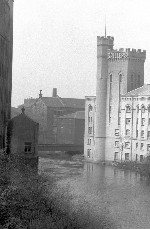 View from ENE showing part of ESE front of Scotstoun Mills with part of Regent Mills on left and part of Bishop Mills in background