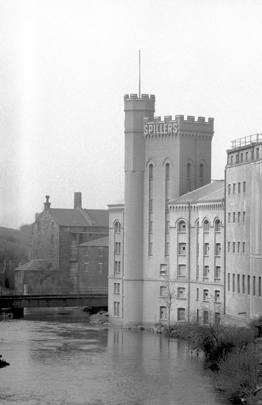 View from ENE showing part of ESE front of Scotstoun Mills with part of Bishop Mills in background