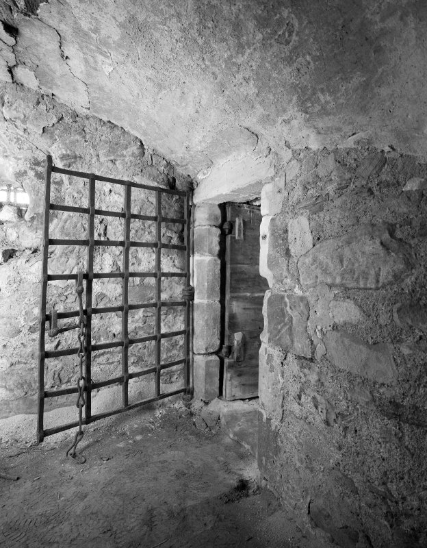 Interior - second floor, eastern barrel vaulted cell, view from east. Digital image of B/39469.