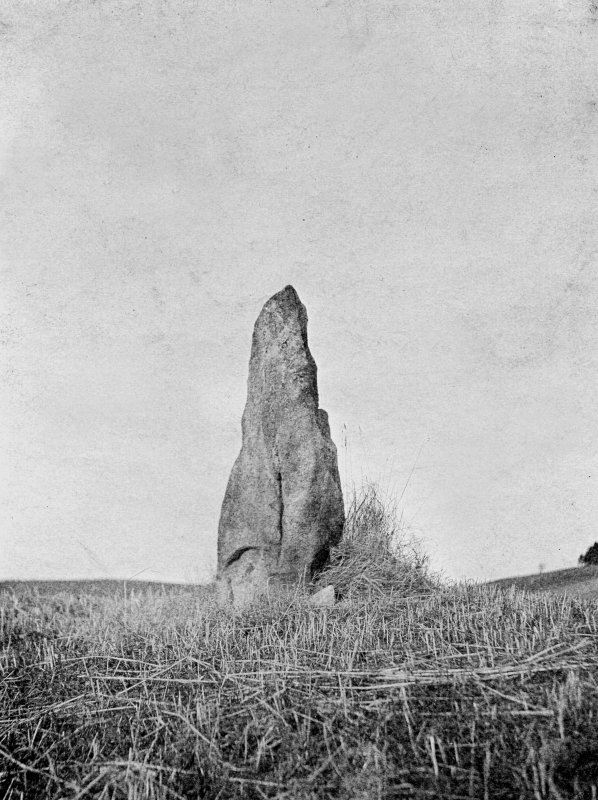 View of standing stone.