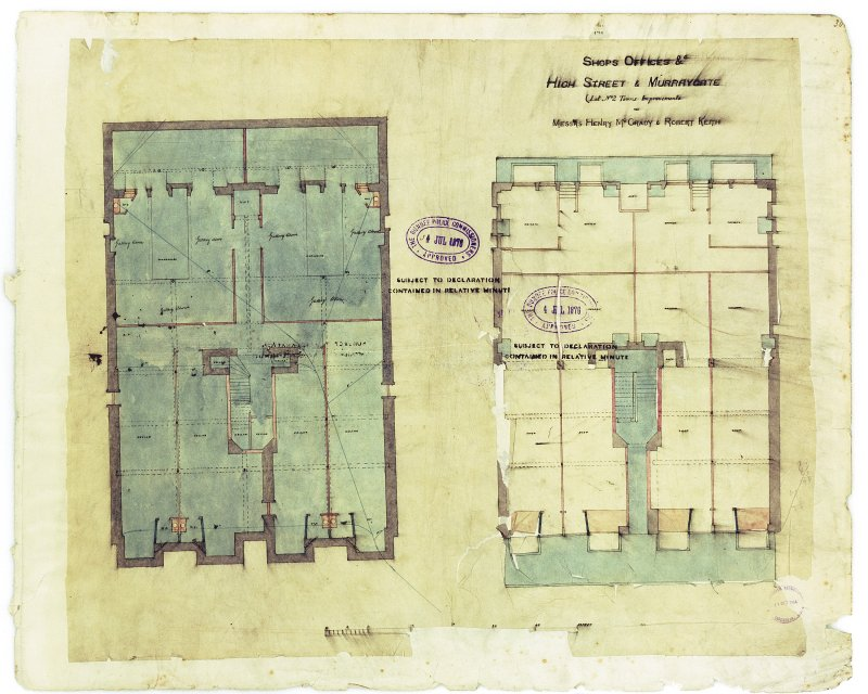 Shops & Offices for Hendry McGrady & Robert Keith. Digital image of recto: lower floor plans.
