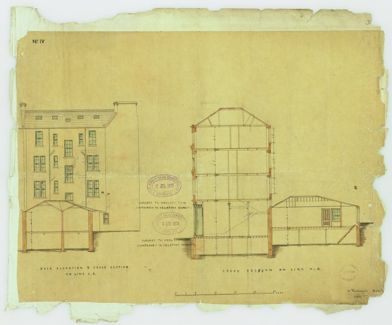Murraygate, Shops & Houses for Robert Laing. Digital image of recto: back elevation & section.