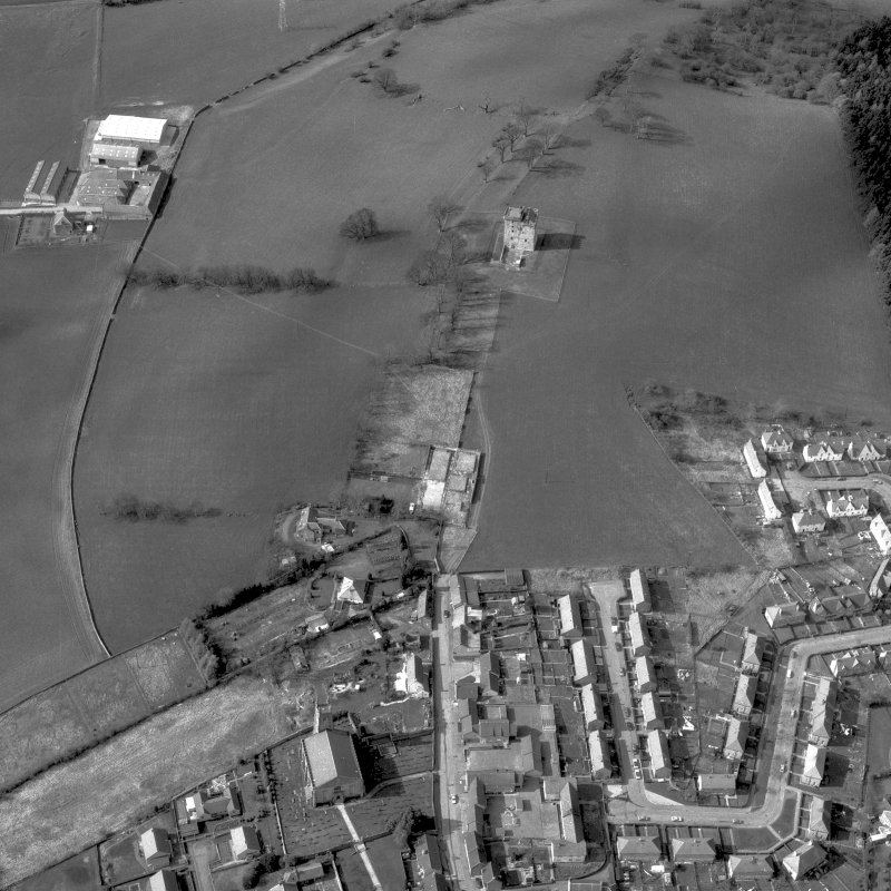 Aerial view of Clackmannan Tower. Digital image of CL/1171.
