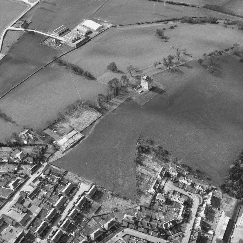 Aerial view of Clackmannan Tower. Digital image of CL/1172.