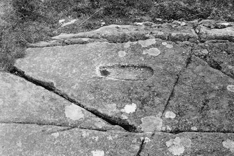 Dunadd, Fort. View of rock cut 'foot-print'.
