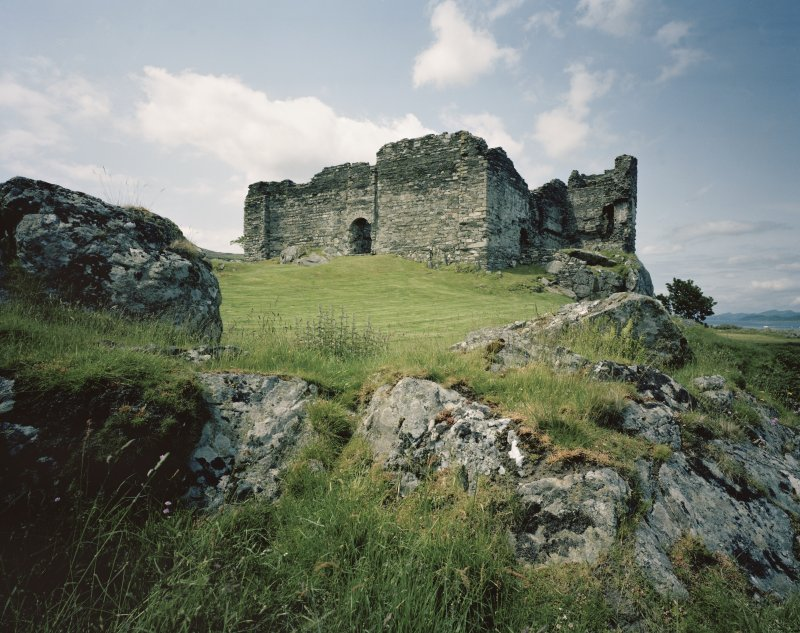 Castle Sween. General view from South-West.