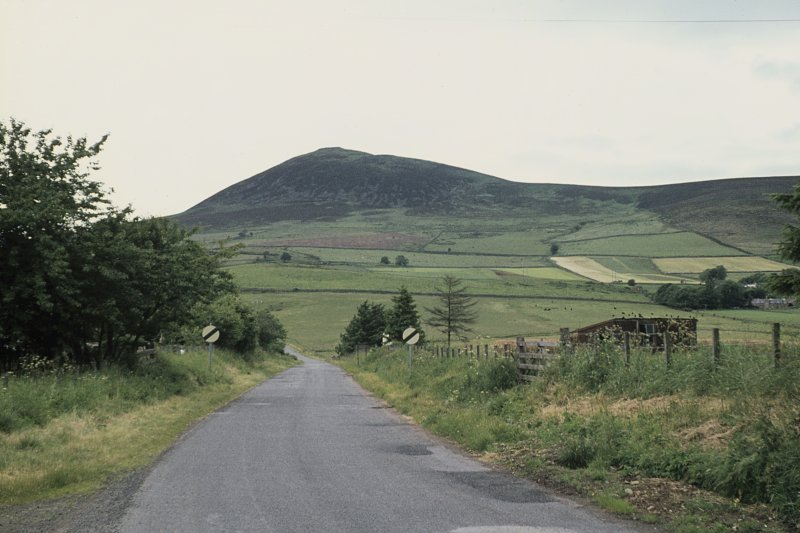 Copy of colour slide showing distant view of Tap o' Noth, Grampian from Rhynie village NMRS Survey of Private Collection Digital Image only