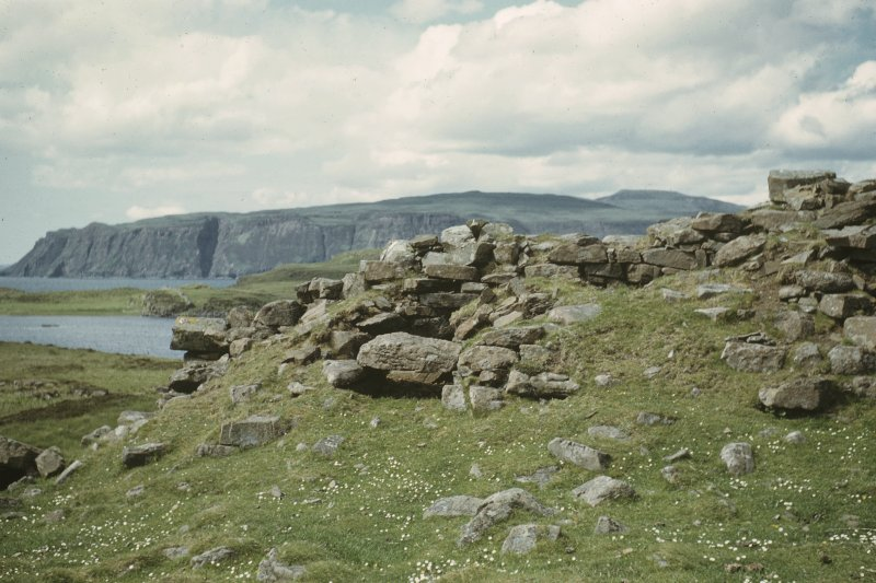 Copy of colour slide showing view of Semibroch, Rubh an Dunain, Loch Brittle,Skye; Interior NMRS Survey of Private Collection Digital Image only