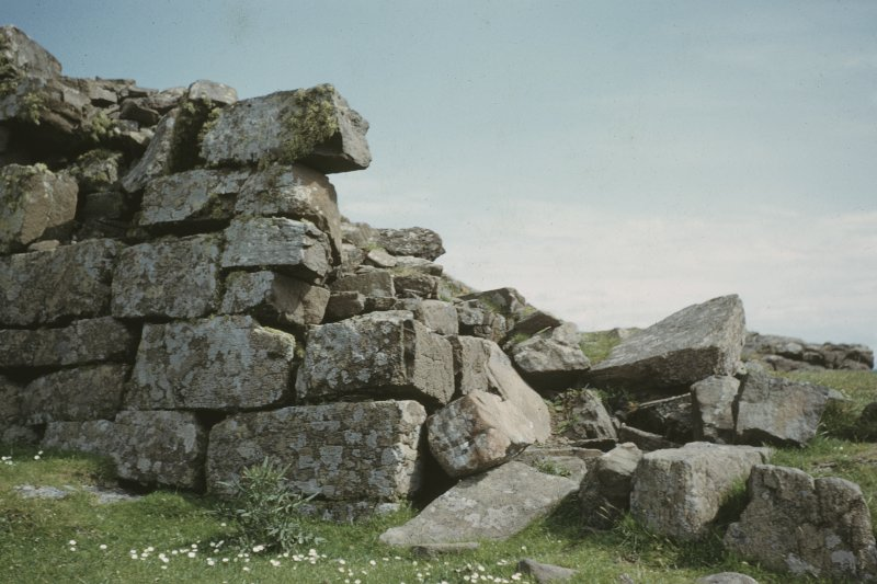 Copy of colour slide showing view of Semibroch, Rubh an Dunain, Loch Brittle,Skye; Detail of walling at entrance NMRS Survey of Private Collection Digital Image only