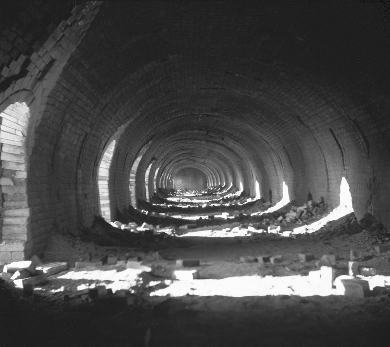 Avonbridge Brickworks Interior view of continuous kiln. Digital image of B/10084/9.