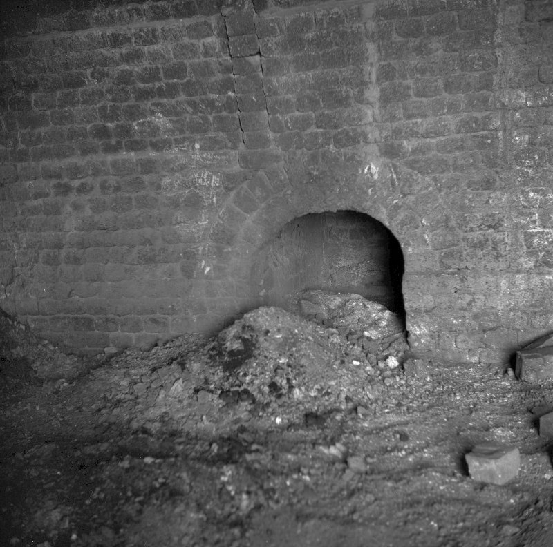 Avonbridge Brickworks View of flue opening and ash pile. Digital image of B/10084/10.