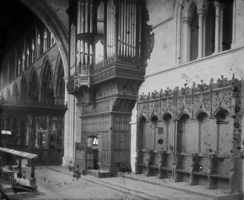 Interior-general view of organ pipes