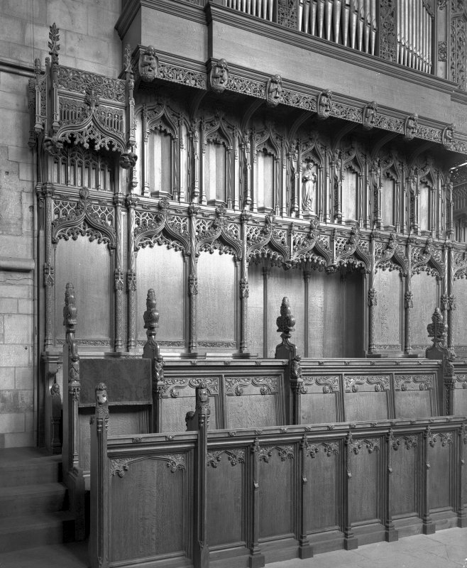 Interior-general view of choir stalls